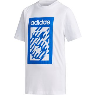 adidas YB BOX TEE T-Shirt Kinder white