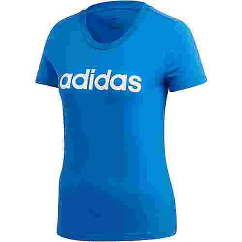 adidas Linear T-Shirt Damen blue