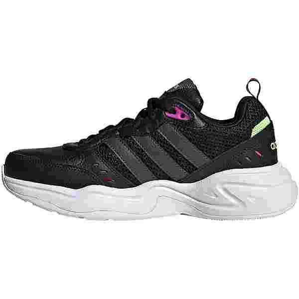 adidas Strutter Sneaker Damen core black-grey six-signal green