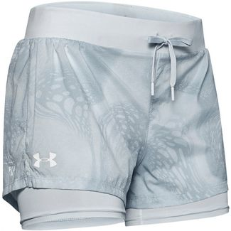 Under Armour Run SpeedPocket 2in1 Weightless Laufshorts Damen gray