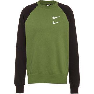 Nike NSW Swoosh Sweatshirt Herren treeline-black-white