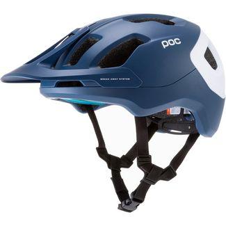 POC Axion SPIN Fahrradhelm lead blue matt