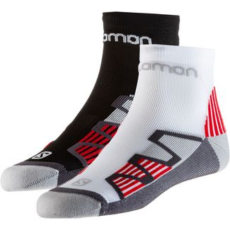 Salomon Hawk 2er Pack Laufsocken black-red white-red