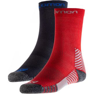 Salomon Wandersocken Kinder night sky-nautical blue+red-grey