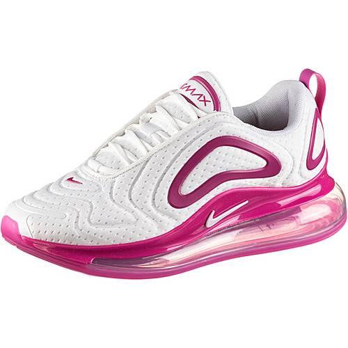 Nike Air Max 720 Sneaker Damen white-white-fire pink-metallic silver im  Online Shop von SportScheck kaufen
