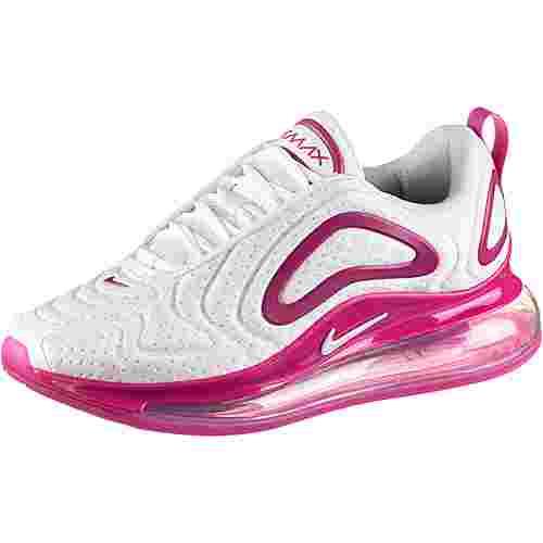 Nike Air Max 720 Sneaker Damen white-white-fire pink-metallic silver