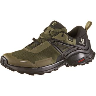Salomon GTX® X Raise Wanderschuhe Herren grape leaf-black