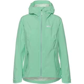 Jack Wolfskin Pack and Go JWP Hardshelljacke Damen pacific green