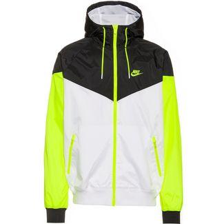 Nike NSW Windrunner Nylonjacke Herren white-black-volt