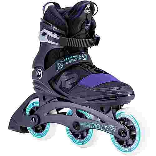 K2 Trio LT 100 Inline-Skates Damen black purple