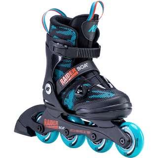 K2 Raider BOA Inline-Skates Kinder black turquise
