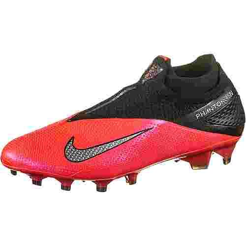 Nike PHANTOM VSN 2 ELITE DF FG Fußballschuhe Herren laser crimson-metallic silver-black
