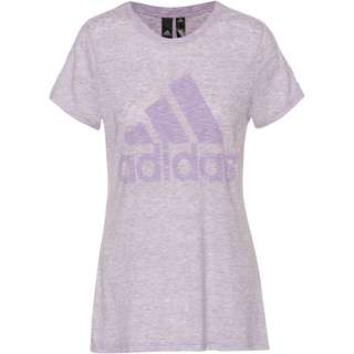 adidas Winners T-Shirt Damen purple tint melange