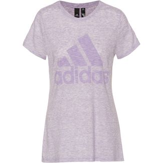 adidas Winners T-Shirt Damen purple tint melange