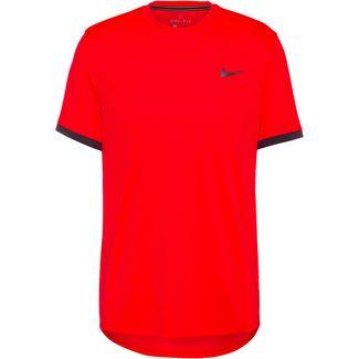 Nike Court Dri-FIT Tennisshirt Herren laser crimson-gridiron-gridiron