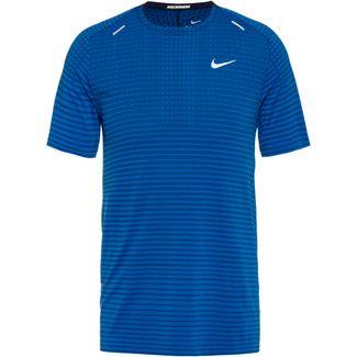 Nike Techknit Funktionsshirt Herren pacific blue-obsidian-reflective silv