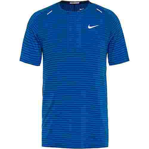 Nike Techknit Funktionsshirt Herren pacific blue-obsidian-reflective silv