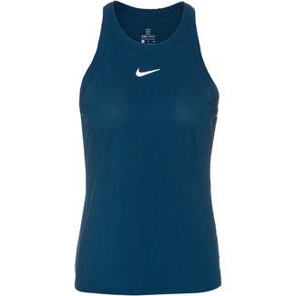 Nike Court Dri-FIT Funktionstank Damen valerian blue-white