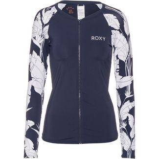 Roxy Surf Shirt Damen mood indigo flying flowers s