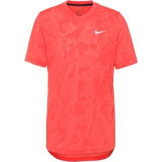 Nike Court Dri-FIT Challenger Tennisshirt Herren laser crimson-white