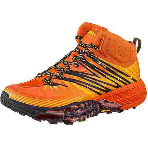 Hoka One One GTX® SPEEDGOAT MID 2 Trailrunning Schuhe Herren mandarin red gold fusion