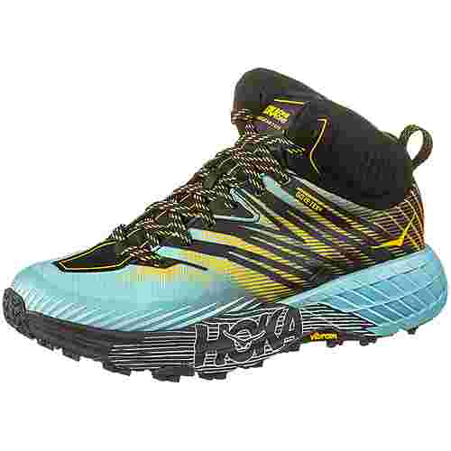 Hoka One One GTX® SPEEDGOAT MID 2 Trailrunning Schuhe Damen antigua sand gold rod