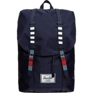 Herschel Rucksack Retreat Daypack dunkelblau / rot