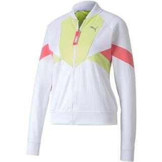 PUMA Trainingsjacke Damen puma white-sunny lime