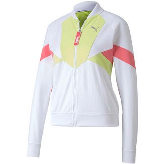 PUMA Trainingsjacke Damen puma white-sunny lime