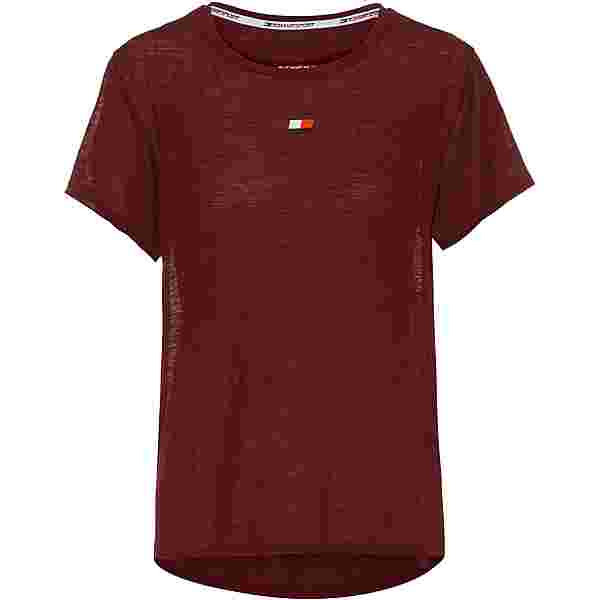 Tommy Hilfiger T-Shirt Damen deep rouge