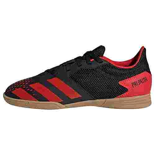 adidas Predator 20.4 IN Sala Fußballschuh Fußballschuhe Kinder Core Black / Active Red / Core Black