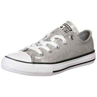 CONVERSE Chuck Taylor All Star Coated Glitter OX Sneaker Kinder hellgrau