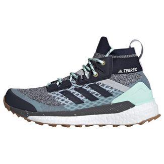 adidas TERREX Free Hiker Wanderschuh Wanderschuhe Damen Light Solid Grey / Legend Ink / Purple Tint