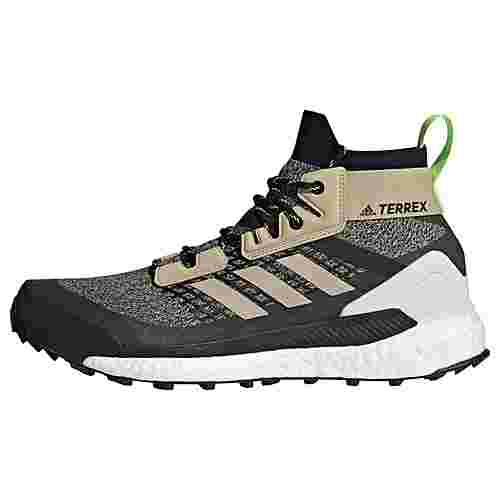 adidas TERREX Free Hiker Wanderschuh Wanderschuhe Herren Savanna / Core Black / Signal Green