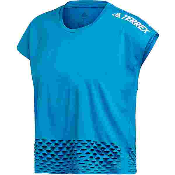 adidas Agravic Allaround Croptop Damen sharp blue
