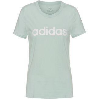 adidas Linear Funktionsshirt Damen green tint
