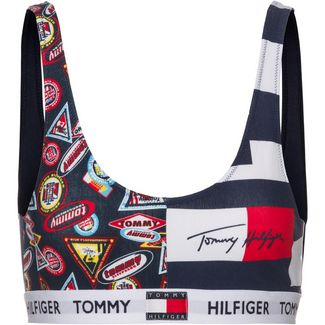 Tommy Hilfiger Sport-BH Damen smallheritage badges_navybl