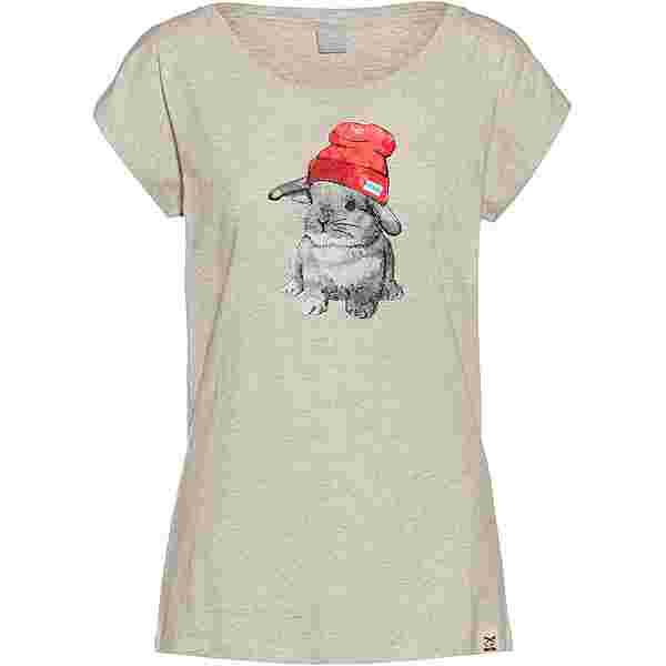iriedaily It Hasi T-Shirt Damen ecru mel.