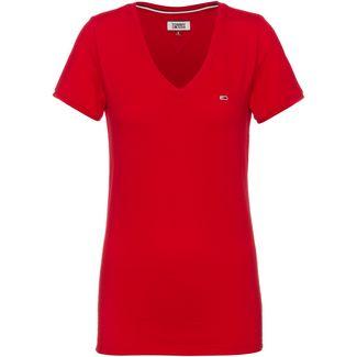 Tommy Jeans V-Shirt Damen deep crimson
