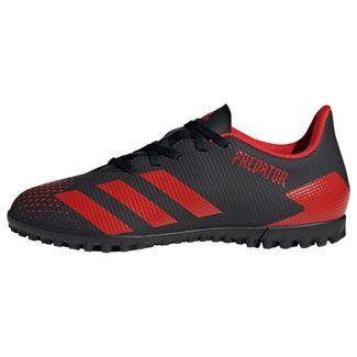 adidas Predator 20.4 TF Fußballschuh Fußballschuhe Herren Core Black / Active Red / Core Black
