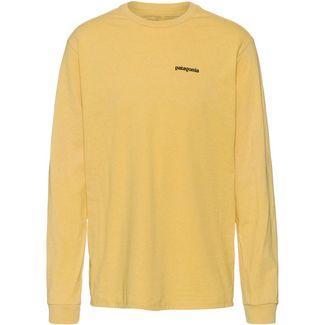 Patagonia P-6 Logo Langarmshirt Herren surfboard yellow