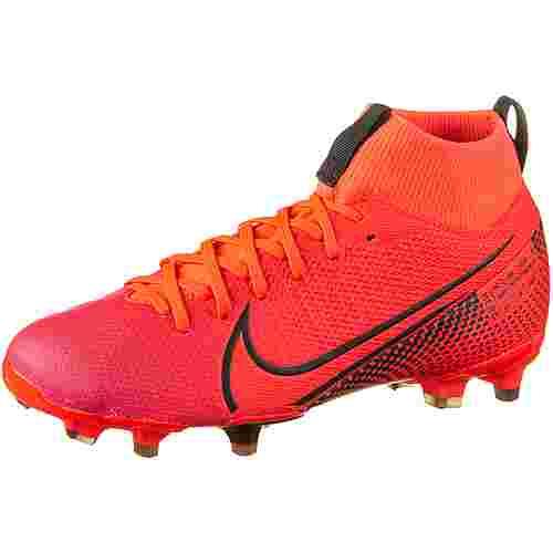 Nike JR MERCURIAL SUPERFLY 7 ACADEMY FG/MG Fußballschuhe Kinder laser crimson-black-laser crimson