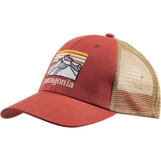 Patagonia Line Logo Ridge Lopro Trucker Cap spanish red