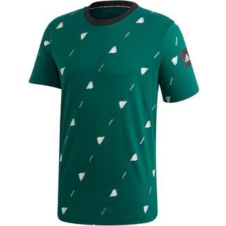 adidas GFX 2 T-Shirt Herren collegiate green