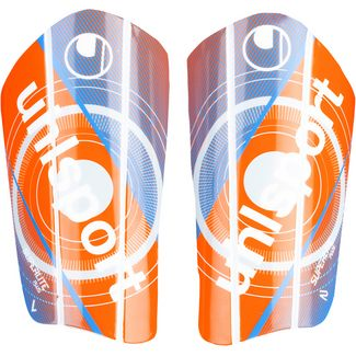 Uhlsport Super Lite Plus Schienbeinschoner orange-blau