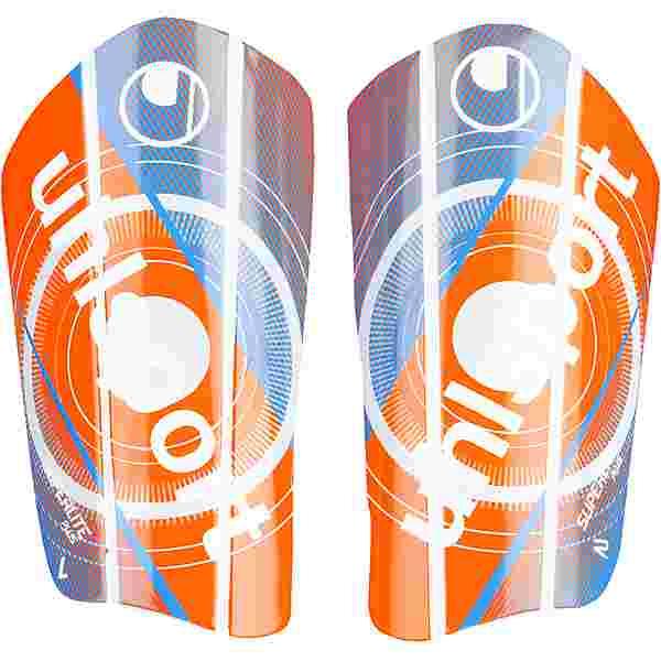 Uhlsport Super Lite Plus Schienbeinschoner orange-blau