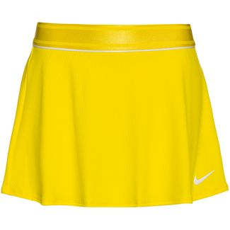 Nike Court Dri-FIT Tennisrock Damen opti yellow-white-white