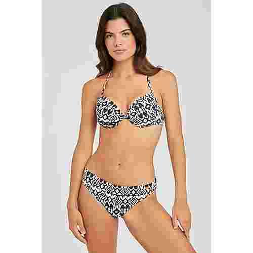 Lascana Bikini Oberteil Damen schwarz-bedruckt