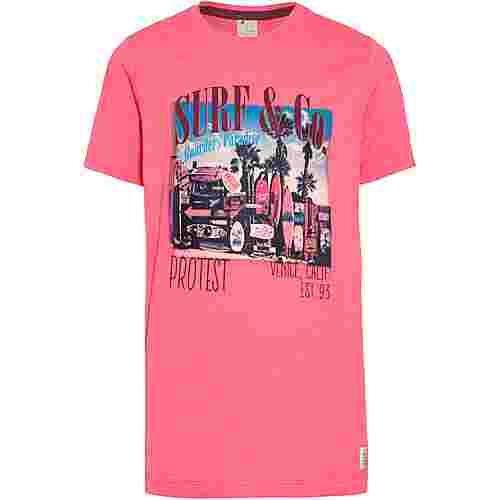Protest Erik Jr T-Shirt Kinder fluor pink
