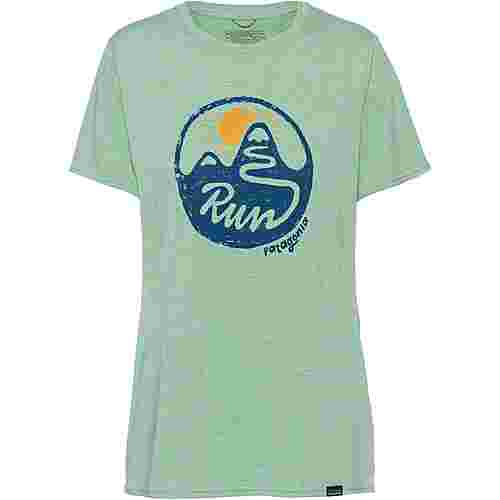 Patagonia Cap Cool Daily Graphic Funktionsshirt Damen switchback run-gypsum green x-dye